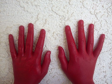red hand 1168908 340